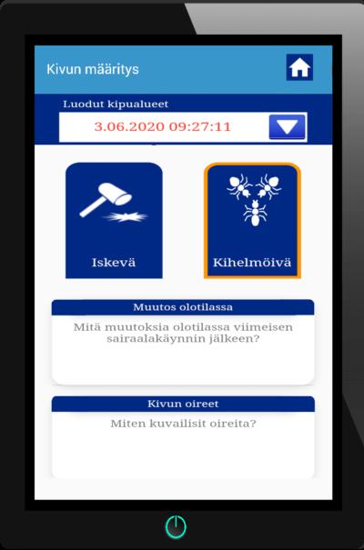 Mobiilisovellus kivunseurantaan- Paincarerin sovelluksen pääominaisuudet